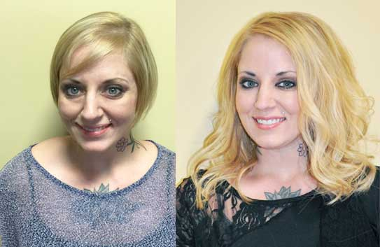 Di biase hair extensions usa before and afters di biase hair extensions by toma rhodes at the chicago beauty show pmusecretfo Gallery